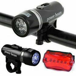 5 LED Bike Light Set MTB Cycling Headlight and Taillight Front and Rear Lamp US $6.97