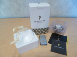 LUMINARA quot;Real Flame Effectquot; Champagne Silver amp; White Candle Wreath with Remote $8.85