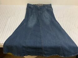 Candie's Long Jean Skirt size 9 Denim Fade Wash EXCELLENT Condition $20.00