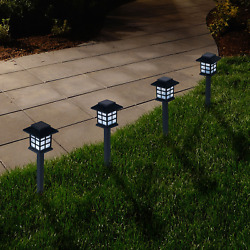 Outdoor Lantern Solar Landscaping Lights Set of 6 by Pure Garden $30.22
