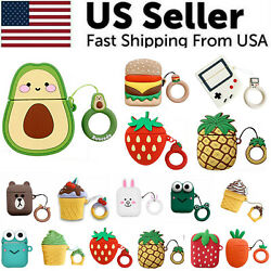 Cute 3D Cartoon Silicone Protective Case Cover For AirPod AirPods 1 2 Keychain $4.59