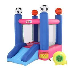 Inflatable Bounce House Kids Castle Football Theme Bouncer for Outdoor w Blower $193.90