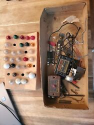 Vintage train parts bulbs and American Flyer Control Button. Lionel $30.00