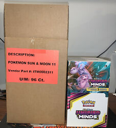 Pokemon Unified Minds Dollar Tree Booster Box Factory SEALED 3 Card 96 Packs $170.00