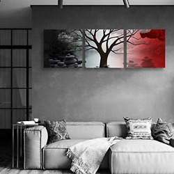 wall26 Canvas Wall Art Abstract Cloud Tree Pictures Home Wall Decorations for $30.53