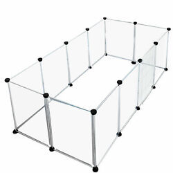 Pet Playpen Dog Exercise Pen Large Portable Dog Fence with Door 12 Panel N7Q4 $103.80