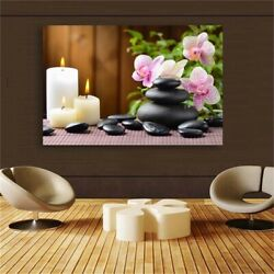 Flower Zen Wall Art Poster and Print Wall Picture for Living Study Home Decor $16.90