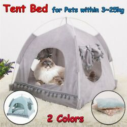 Pet Dogs Cat Nest Tent House Puppy Cushion Warm Cute Sleeping Fluffy Beds House $19.99
