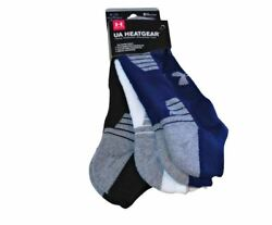 Under Armour Mens Socks Large 8 12 No Show Ankle Low Cut Sports 3 Pair Gray Asst $17.00