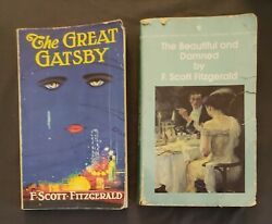 Vintage F. Scott Fitzgerald Novels The Great Gatsby The Beautiful and the Damned $11.97