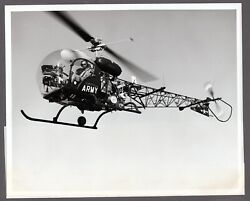 BELL OH 13S HELICOPTER LARGE ORIGINAL VINTAGE MANUFACTURERS PHOTO US ARMY GBP 24.95