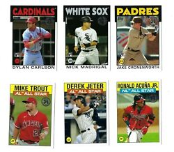 1986 Topps Insert Complete Your Set 2021 Topps Series 2 You U Pick Choice $12.98
