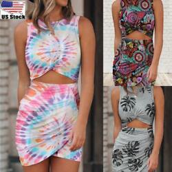 Women Round Neck Mini Bodycon Dress Ladies Sexy Cut Out Party Cocktail Dresses $16.09
