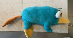 """Perry The Platypus Plush Stuffed Phineas And Ferb Agent 7.5"""" Disney Parks Used $8.99"""