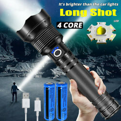Ultra Bright 990000LM LED Flashlight Rechargeable USB Torch Zoomable Hiking Lamp $24.78