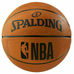 NBA Basketball Spalding Outdoor Rubber Standard Size Orange Shipped Deflated NEW $18.88