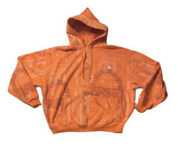 Preowned Champion L S Full Zip Map Logo Hoodie Mens Size 3X $90.00