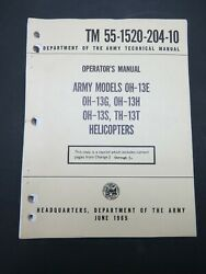 Orig. 65 Army Bell OH 13 E G H S TH 13T Bell 47 Helicopter Flight Ops Manual $50.00