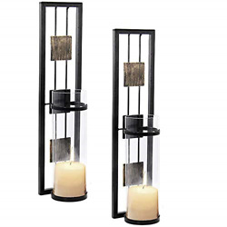 2 Set Shelving Solution Wall Sconce Candle Holder Metal Wall Decorations for ... $38.75