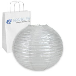 12 pcs 6quot; inch Chinese Paper Lantern Silver Wedding Party Event zk $11.49