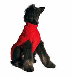 Chilly Dog Red Cable Dog Sweater X Large $50.06