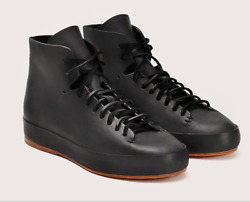 Feit Handsewn High Black Natural Leather Sneaker Size 5 US 35 EU Limited