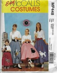 McCall#x27;s Sewing Pattern MP448 M6101 Girls#x27; POODLE SKIRTS Costume 3 4 5 6 $8.54