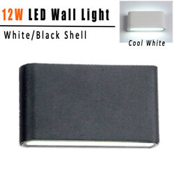 Modern LED Sconce Lights Exterior Fixtures 110V Cool White Yard Porch Wall Lamp