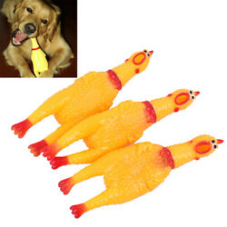 1PC Dog Gadgets Novelty Yellow Rubber Chicken Pet Toys Novelty Screaming CP1 C $2.63
