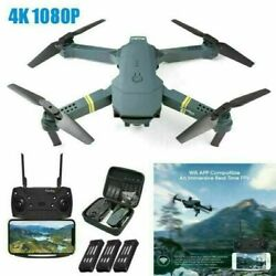 FPV Wifi RC Camera Drone With HD Camera Foldable Quadcopter Wide Angle Selfie 4K $35.99