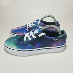 Vans Off The Wall Girls Sneakers Shoes Multicolor 721356 Lace Up Low Top 3 M $19.97