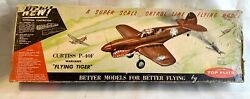 VINTAGE 1950S TOP FLITE CURTISS P 40 WARHAWK SCALE CL .15 .29 BALSA rc KIT OLD $220.00