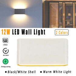 LED Wall Lights Modern Fixtures Lamp Up Down Bedroom 12W Sconce IP65 $15.70