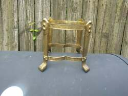 Vintage Brass Claw Footed Bowl Stand $16.50