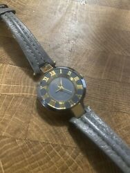 Gucci watch women vintage light blue gold silver small classic casual $125.00