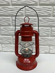 """Vintage Chalwyn Tropic Red 10"""" Battery Lantern Made in England $35.00"""