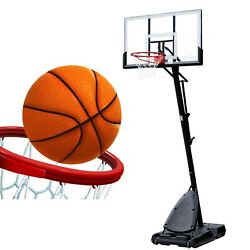 NEW Spalding 54quot; Polycarbonate Portable Basketball Hoop With Free Shipping $265.99