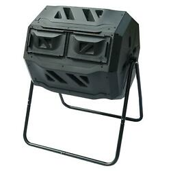 Chambers Composting Tumbler 42 Gallon Dual Outdoor Gardening Large Compost Bin $72.99