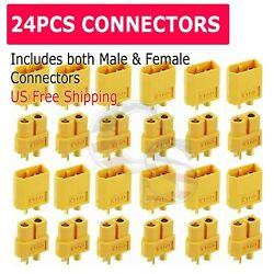 24Pcs XT60 Male Female Bullet Connectors Plugs For RC Battery From US Warehouse $7.99
