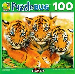 Cute Baby Sumartran Tiger Cubs Jigsaw Puzzle 100 Pieces 8.75quot; X 11.25quot; Piece NEW $6.95