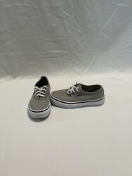 Vans Off The Wall Girls Grey Pink Shoes size 12.5 C $18.00