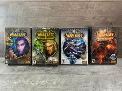 World of Warcraft First 4 Expansions Original Box Sets ActivationCodes Used $25.00