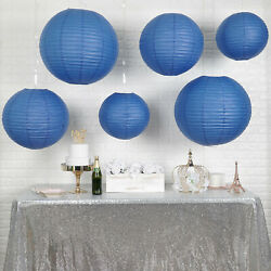 6 NAVY BLUE Assorted Large Hanging Paper Lanterns Wedding Events Decorations $13.05