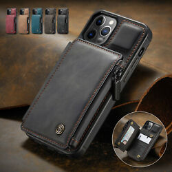 For iPhone 12 11 Pro Max XR XS 78 SE Leather Wallet Card Holder Stand Flip Case $10.76