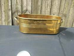 Vintage Brass Window Planter With Handles Made In India $12.90