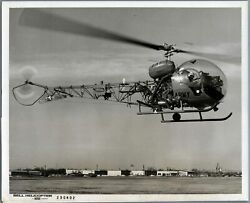 BELL TH 13T HELICOPTER LARGE VINTAGE ORIGINAL MANUFACTURERS PHOTO US ARMY $39.95