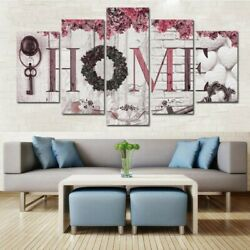 5Pcs Concise Fashion Wall Paintings Home Letter Printed Photo Art Wedding Decors $11.99