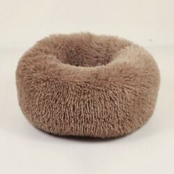 Donut Plush Pet Dogs Cats Bed Fluffy Soft Warm Calming Bed Sleeping Kennel Nest $21.99