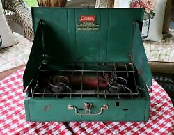 Vintage Coleman Oil Camping Stove 413G Suitcase Portable Stove Camping Survival $48.00