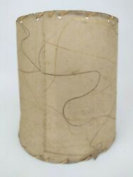 Vintage Fiberglass Clip Mid Century Cylinder Lamp Shade W Stitching 8quot; Small $34.99